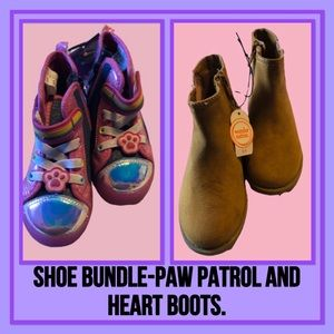 Shoe Bundle Paw Patrol & Heart Boots Size 11
